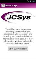 Screenshot of JCSys Reference
