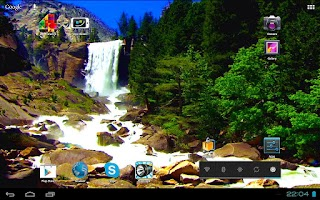 Screenshot of 3D Nice Tall Waterfall Free