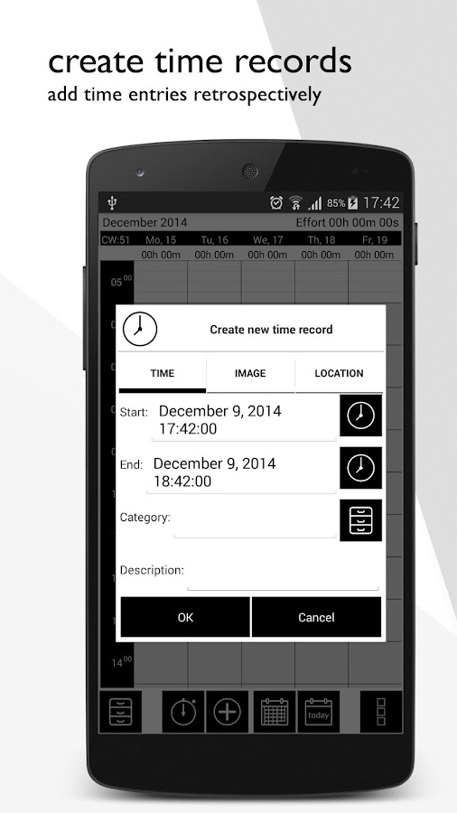 TimeTracker - chronology- screenshot