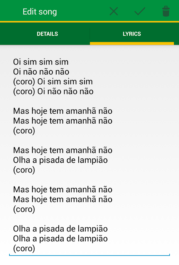 Lyric brazil song lyrics : Capoeira Tunes - Android Apps on Google Play