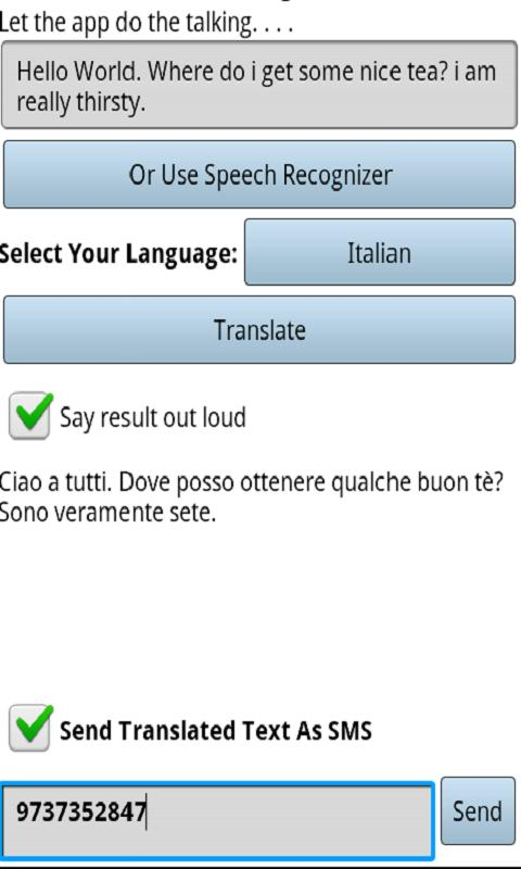 Biz Talk Translator (Say Hi)- screenshot