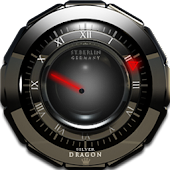 Silver Dragon Clock Widget
