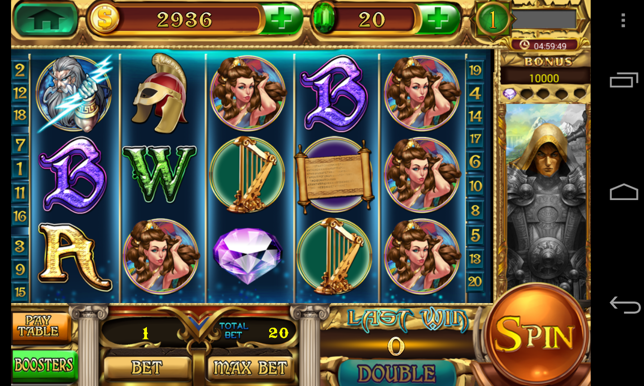 zeus slot machine game