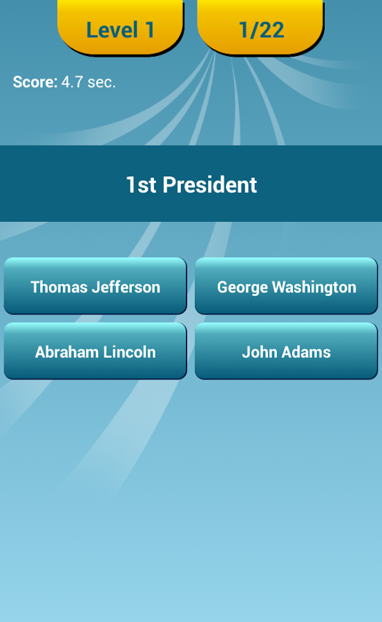 US Presidents Quiz- screenshot