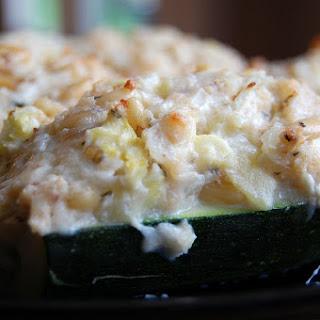 Cheese Stuffed Zucchini Boats.