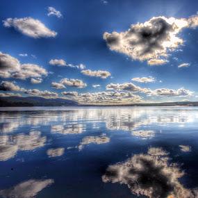 Reflecting the floating sky by Stine Engelsrud - Landscapes Waterscapes ( rsa_sky, rsa_light, rsa_macro, rsa_water, rsa_ladies, reflection_shotz, _rsa_nature, pro_ig, photowall, photomafia, phototerminal, global_hotshotz, natures_hub, naturewhisperers, bestofnorway, ilovenorway_oslo, shotawards, snappeak, skystyles_gf, ahd_photo, all_my_own, landscape_captures )