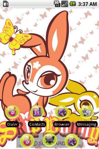 Funny Skip Bunny [SQTheme] ADW - screenshot