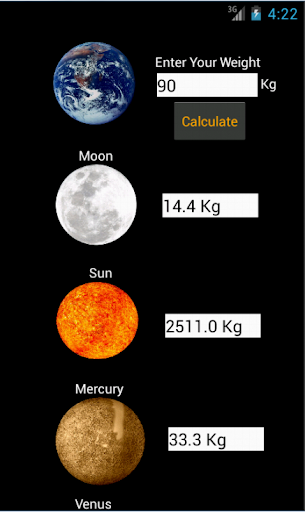 Your Weight on Planets