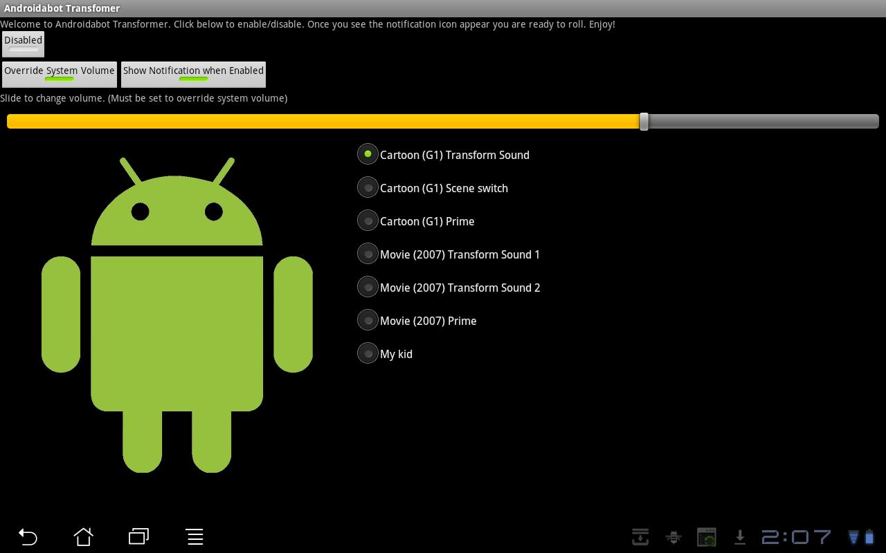 Androidabot Transformer - screenshot