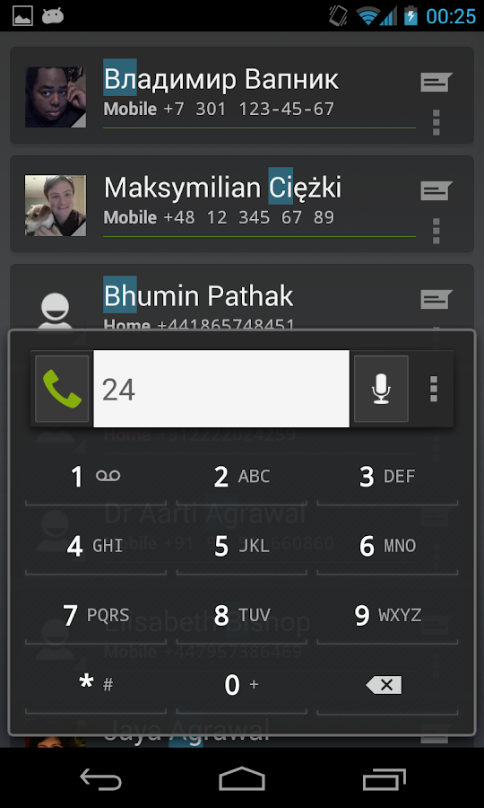 Intelliphone dialer - screenshot