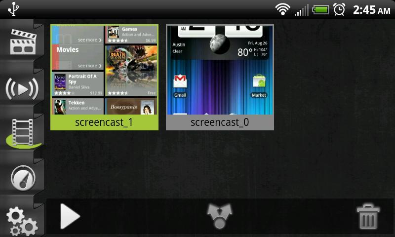 Screencast Video Recorder Demo- screenshot