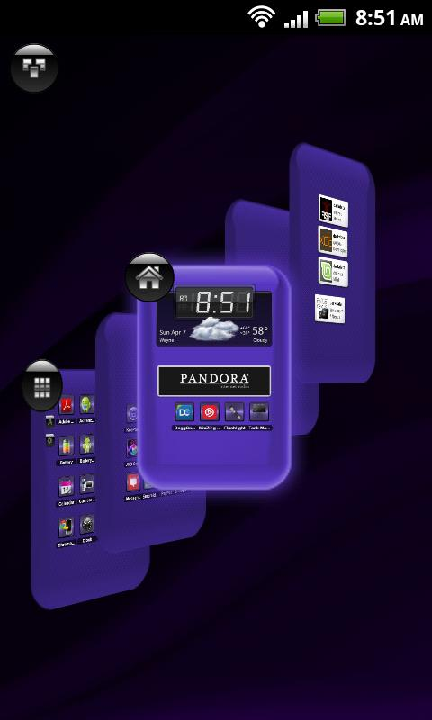 TSF Shell Theme Purple Wind HD - screenshot