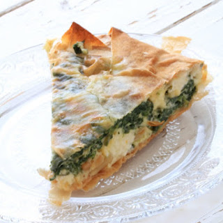 Spinach and Feta Pie from Jamie Oliver's 30 minute meals book.