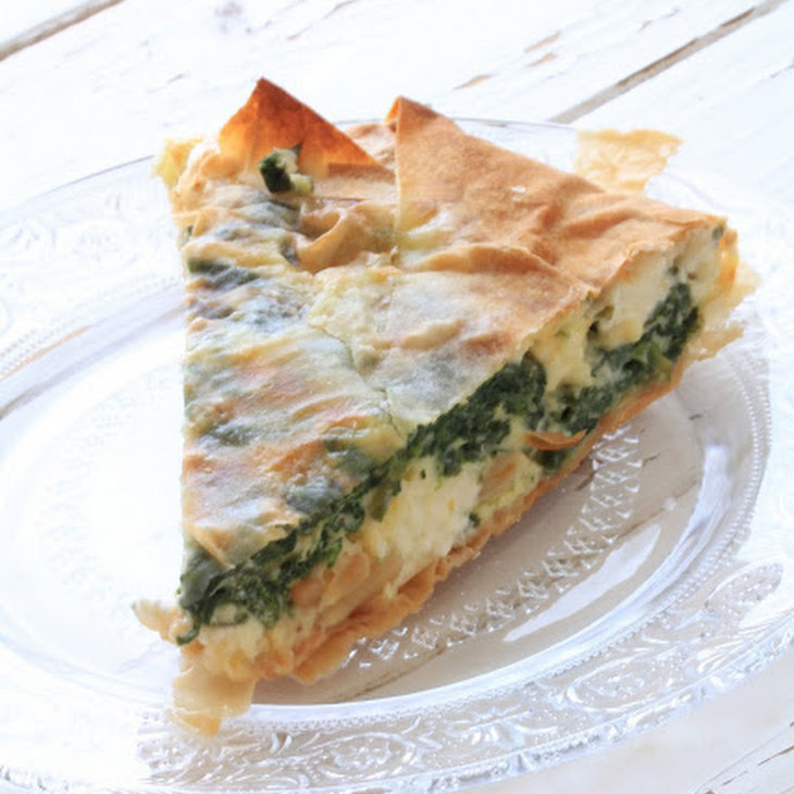 Spinach and Feta Pie from Jamie Oliver's 30 minute meals book