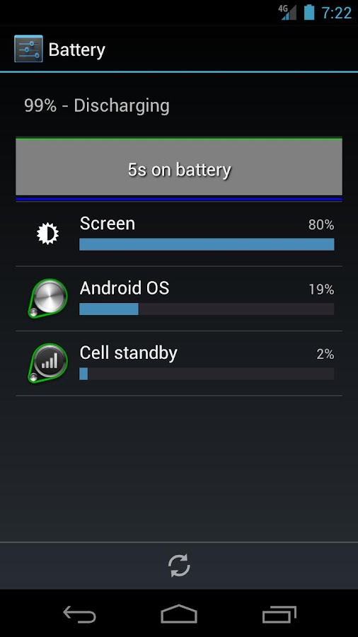 Battery Usage Shortcut - screenshot