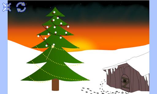 Guirlande sur sapin de Noël
