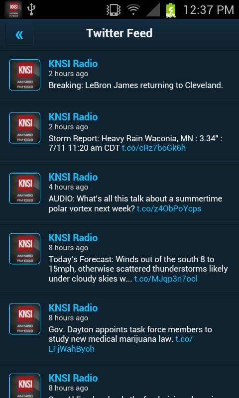 KNSI AM 1450 & FM 103.3 - screenshot