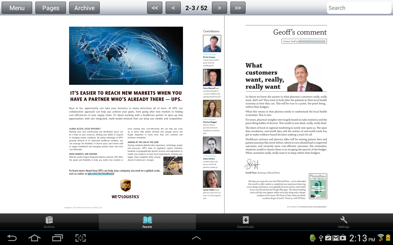 PharmaTimes Magazine- screenshot