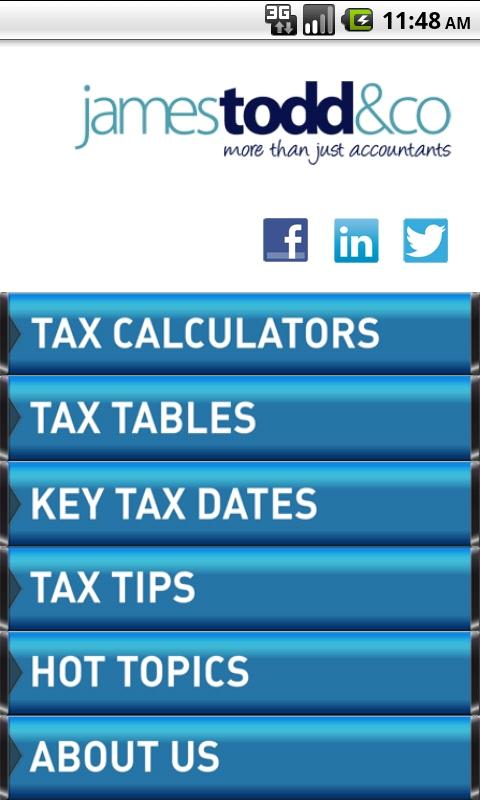 James Todd Tax App - screenshot