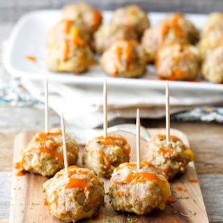Skinny Cheddar Stuffed Meatballs