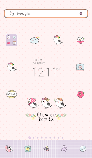 flower birds dodol theme