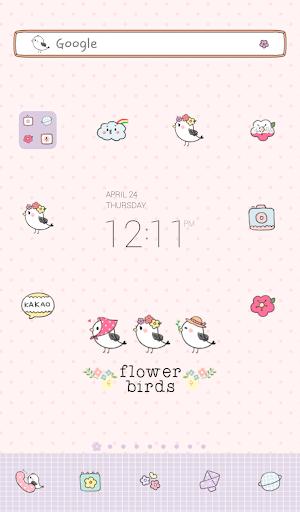 flower birds 도돌런처 테마