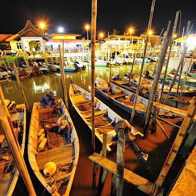 Jeti Umbai by Naising Bega - Transportation Boats ( boat, umbai melaka )