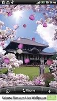 Screenshot of Sakura Blossom Live Wallpaper