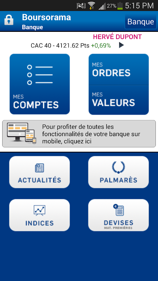 Boursorama Banque - screenshot