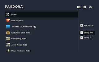 Screenshot of Pandora® Radio for Google TV