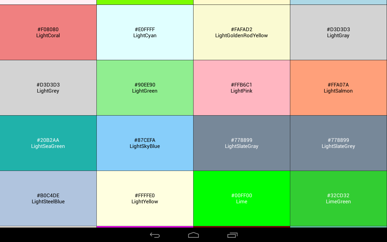 color code reference book screenshot - Color Code Book