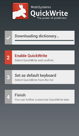 QuickWrite Keyboard Screenshot