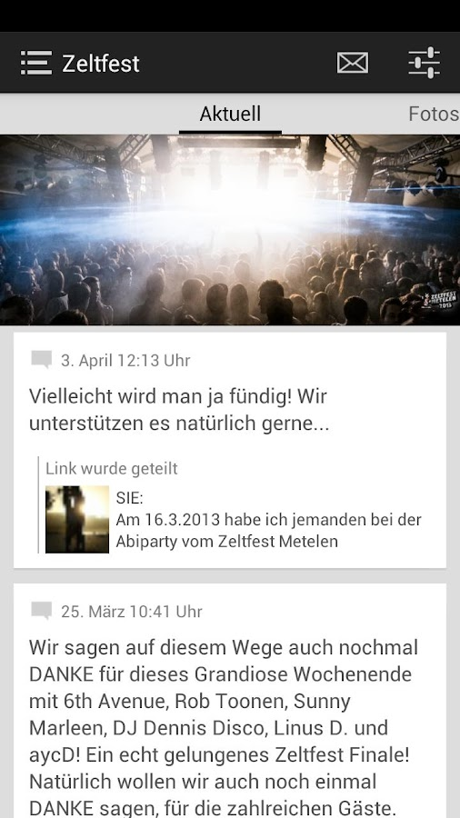 Zeltfest Metelen - screenshot