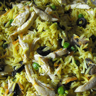 Curried Rice with Chicken and Vegetables.