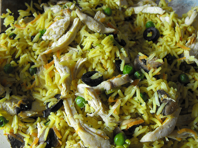 Curried Rice with Chicken and Vegetables Recipe