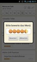 Screenshot of Mensa Leipzig