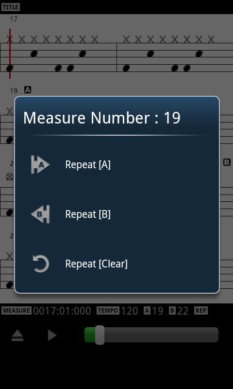 MIDI Drum Score Player- screenshot