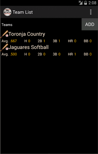 My Softball Baseball Stats