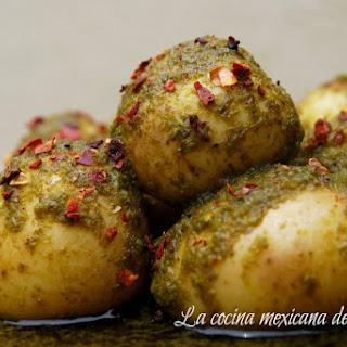 Cambray Potatoes with Cilantro.