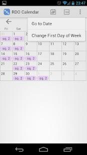 RDO Calendar - screenshot thumbnail