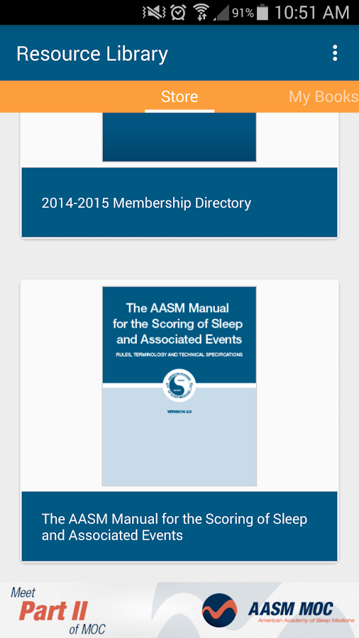 AASM Resource Library- screenshot