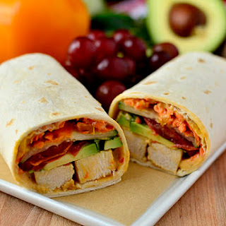Summer Chicken Wraps.