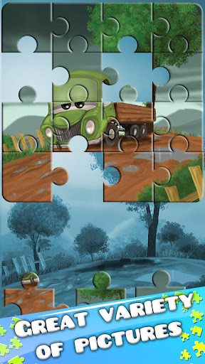 Cars Trucks-Puzzles for Kids