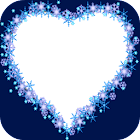 蓝色的心相框 icon