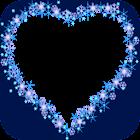 corazón azul marcos de fotos icon