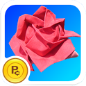 Origami Rose: virtual flower icon