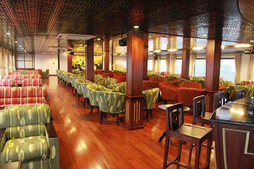 The traditional flair of AmaLotus' Saigon Lounge will be inviting as you sail the Mekong River.