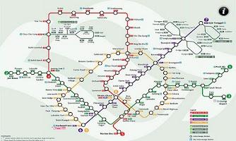 Screenshot of Singapore MRT Route