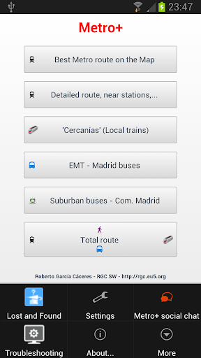 Metro+ Madrid subway buses