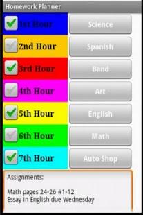 Homework Planner- screenshot thumbnail